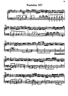 Prelude and Fugue No.14 in F Sharp Minor, BWV 883: For piano by Johann Sebastian Bach