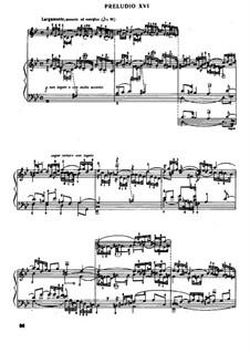 Prelude and Fugue No.16 in G Minor, BWV 885: For piano by Johann Sebastian Bach