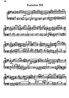 Prelude and Fugue No.19 in A Major, BWV 888: For piano by Johann Sebastian Bach