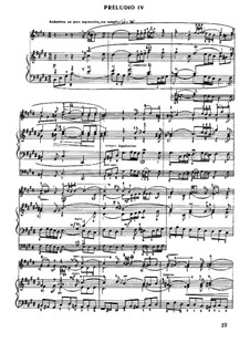 Prelude and Fugue No.4 in C Sharp Minor, BWV 873: For piano by Johann Sebastian Bach