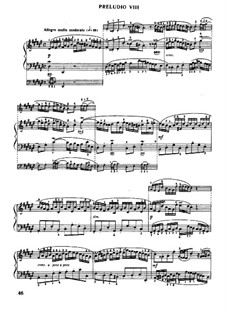 Prelude and Fugue No.8 in D Sharp Minor, BWV 877: For piano by Johann Sebastian Bach