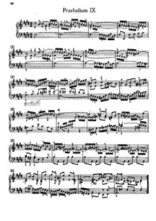 Prelude and Fugue No.9 in E Major, BWV 878: For piano by Johann Sebastian Bach