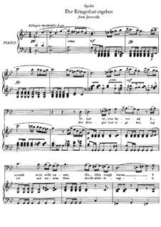 Jessonda: Der Kriegeslust ergeben, für Stimme und Klavier by Louis Spohr