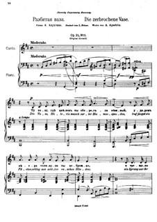 Two Romances, Op.21: No.1 The Broken Vase by Anton Arensky