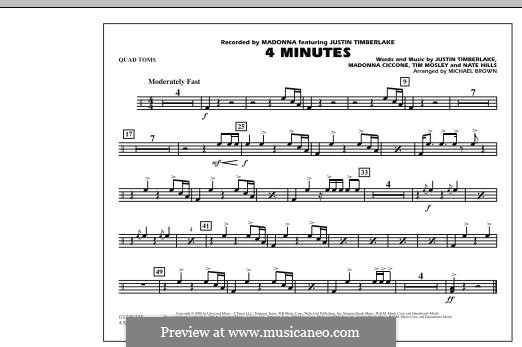 4 Minutes (Madonna featuring Justin Timberlake): Quad Toms part by Madonna, Floyd Nathaniel Hills, Timbaland