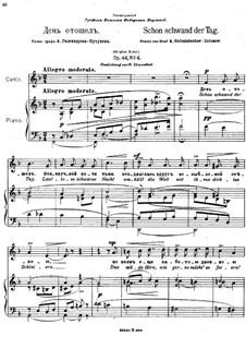Six Romances, Op.44: Nr.4 Schon schwand der Tag by Anton Arensky
