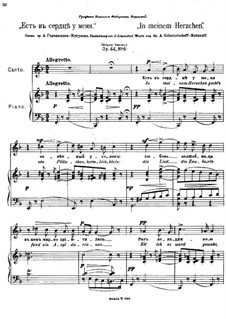 Six Romances, Op.44: Nr.6 In meinem Herzchen by Anton Arensky
