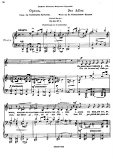 Six Romances, Op.44: Nr.1 Der Adler (in C-Dur) by Anton Arensky