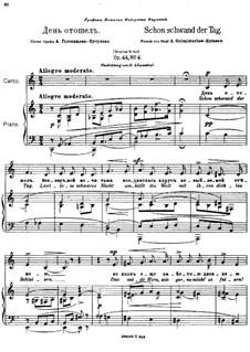 Six Romances, Op.44: Nr.4 Schon schwand der Tag (in C-Dur) by Anton Arensky