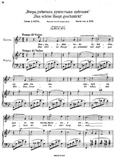 Eight Romances, Op.60: Nr.4 Das schöne Haupt geschmückt by Anton Arensky