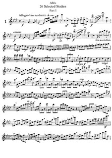Twenty-Six Selected Studies for Flute: Movement I, No.1-16 by Joseph Henri Altes