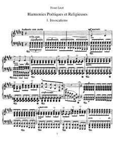 Harmonies poétiques et religieuses, S.173: Complete set by Franz Liszt
