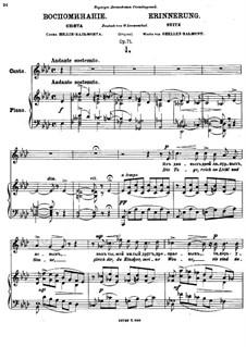 Memories, Op.71: Nr.1 Die Tage reich an Licht by Anton Arensky