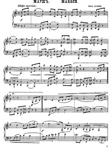 Six Canonic Pieces, Op.1: No.3 March by Anton Arensky