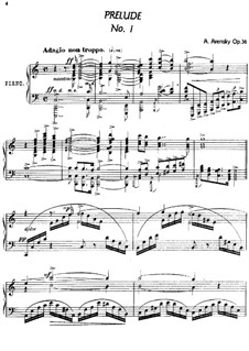 Twenty-Four Characteristic Pieces, Op.36: No.1 Prelude by Anton Arensky