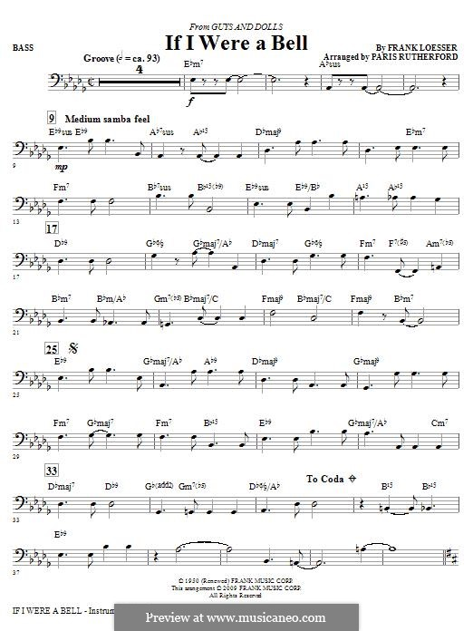 If I Were a Bell: Bass part by Frank Loesser