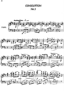 Twenty-Four Characteristic Pieces, Op.36: No.5 Consolation by Anton Arensky