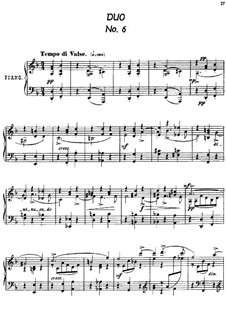 Twenty-Four Characteristic Pieces, Op.36: No.6 Duo by Anton Arensky