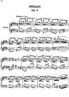 Twenty-Four Characteristic Pieces, Op.36: No.9 Papillon (Butterfly) by Anton Arensky