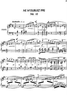 Twenty-Four Characteristic Pieces, Op.36: No.10 Ne m'oubliez pas (Forget Me Not) by Anton Arensky