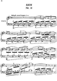 Twenty-Four Characteristic Pieces, Op.36: No.16 Élégie (Elegy) by Anton Arensky