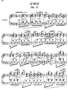 Twenty-Four Characteristic Pieces, Op.36: No.17 Le Reve (The Dream) by Anton Arensky