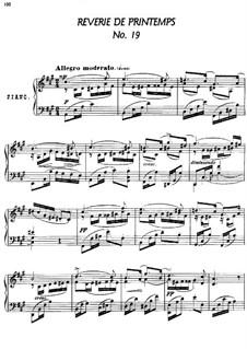 Twenty-Four Characteristic Pieces, Op.36: No.19 Reverie de printemps (Springtime's Reverie) by Anton Arensky