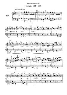 Sonatas for Harpsichord (or Piano): No.104-117 by Domenico Scarlatti
