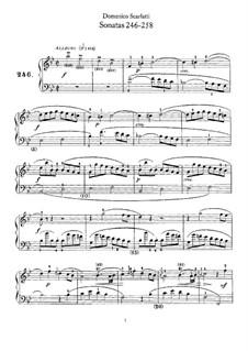 Sonatas for Harpsichord (or Piano): No.246-258 by Domenico Scarlatti