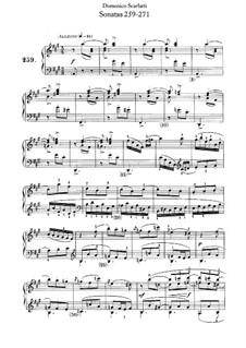 Sonatas for Harpsichord (or Piano): No.259-271 by Domenico Scarlatti