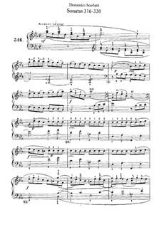 Sonatas for Harpsichord (or Piano): No.316-330 by Domenico Scarlatti