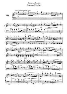 Sonatas for Harpsichord (or Piano): No.331-345 by Domenico Scarlatti