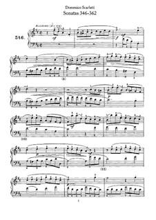 Sonatas for Harpsichord (or Piano): No.346-362 by Domenico Scarlatti