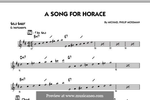 A Song for Horace: Eb Solo Sheet part by Michael Philip Mossman