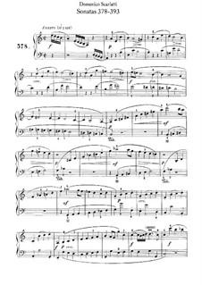 Sonatas for Harpsichord (or Piano): No.378-393 by Domenico Scarlatti
