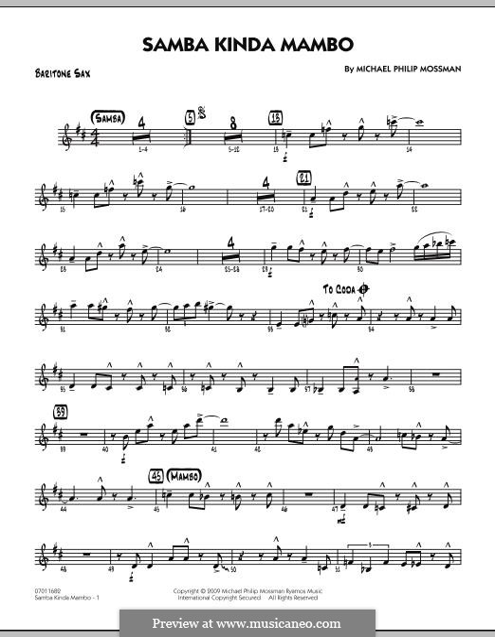 Samba Kinda Mambo: Baritone Sax part by Michael Philip Mossman
