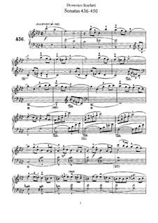 Sonatas for Harpsichord (or Piano): No.436-450 by Domenico Scarlatti