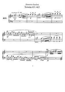 Sonatas for Harpsichord (or Piano): No.451-463 by Domenico Scarlatti