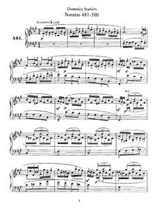 Sonatas for Harpsichord (or Piano): No.481-500 by Domenico Scarlatti