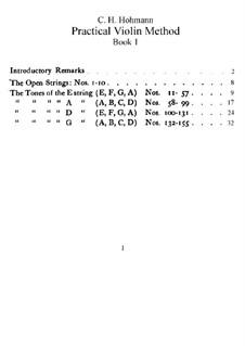 Practical Violin Method: Book I by Christian Heinrich Hohmann