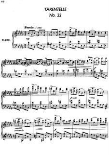 Twenty-Four Characteristic Pieces, Op.36: No.22 Tarentelle (Tarаntellа) by Anton Arensky