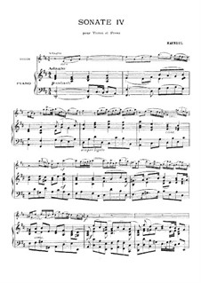 Sonata for Violin and Harpsichord in D Major, HWV 371 Op.1 No.13: Version for violin and piano – score, part by Georg Friedrich Händel