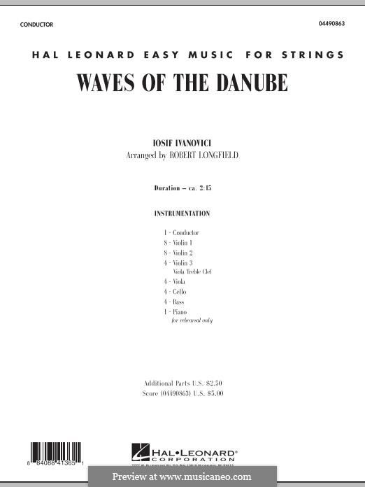 Waves of the Danube: Full Score by Ion Ivanovici