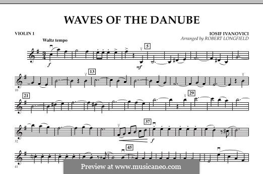 Waves of the Danube: Violin 1 part by Ion Ivanovici