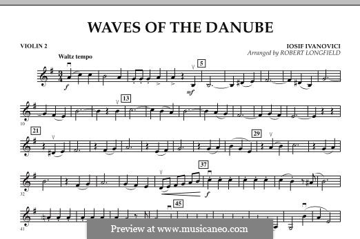 Waves of the Danube: Violin 2 part by Ion Ivanovici