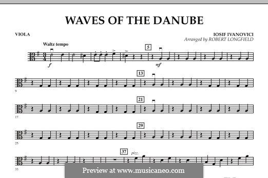 Waves of the Danube: Viola part by Ion Ivanovici