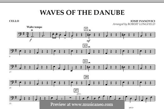 Waves of the Danube: Cello part by Ion Ivanovici