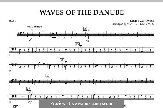 Waves of the Danube: Bass part by Ion Ivanovici