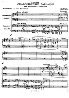 Symphonic Variations, M.46: For two pianos four hands by César Franck