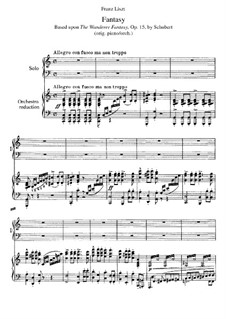 Fantasia for Piano in C Major 'Wanderer', D.760 Op.15: For two pianos four hands by Franz Schubert